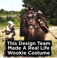 Dank, Life, and Star Wars: This Design Team  Made A Real Life  Wookie costume For the Star Wars fans out there...