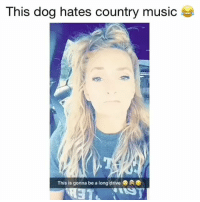 Crazy, Memes, and Music: This dog hates country music  This is gonna be a long drivee  PTRO This is crazy! 😂 Credit: @txsunshn