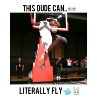 Dude, Memes, and Monster: THIS DUDE CAN  LITERALLY FLY Kwe Parker is a monster 😰 - Comment your favorite NBA team below👇(99.87% cant do this😮) - Follow @fullcourtplayz for more! - @kwe_parker