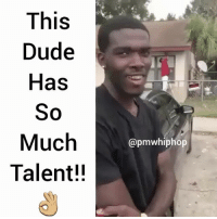 "We need more people like him and less than ""Cash Me Outside"" Girl to Go viral with their talent 🙄: This  Dude  Has  So  Much  Talent!!  apmwhiphop We need more people like him and less than ""Cash Me Outside"" Girl to Go viral with their talent 🙄"