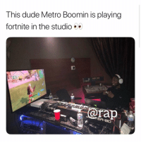 metroboomin playing fortnite 🍆 DM 5 friends in the squad for a shoutout: This dude Metro Boomin is playing  fortnite in the studio  ap metroboomin playing fortnite 🍆 DM 5 friends in the squad for a shoutout