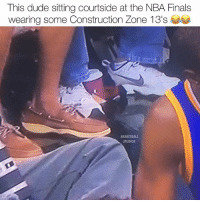 | Come on now, how much did that ticket cost? 😂💀(the nikes) • Follow @basketballstudios for more‼️ Tags: warriors gsw Memes Meme NBAMemes NBAFinals finals funny cavs nba basketball champs ring dubnation defendtheland: This dude sitting courtside at the NBA Finals  BASKETBALL  STUDIOS | Come on now, how much did that ticket cost? 😂💀(the nikes) • Follow @basketballstudios for more‼️ Tags: warriors gsw Memes Meme NBAMemes NBAFinals finals funny cavs nba basketball champs ring dubnation defendtheland