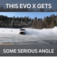 Memes, 🤖, and Evo: THIS EVO X GETS  SOME SERIOUS ANGLE That's a huge slide! 📹:Daniel Belokons