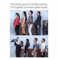 Family, Memes, and Working Out: This family spent 6 months working  Out together and have great results This is so cool 💪🏼 transformation beforeandafter weightloss