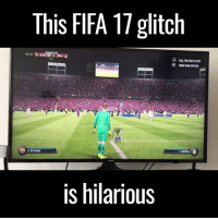 Dank, Fifa, and Hilarious: This FIFA 17 glitch  07:04 BAR 0 0 RMA  CALL FOR 2ND PAYER  PUSH TEAM UPFIELD  M.TERSTEGEN  is hilarious When stadium staff can't be arsed clearing the trophy presentation away 😂😂