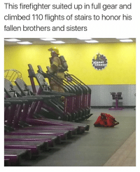 Andrew Bogut, Funny, and Time: This firefighter suited up in full gear and  climbed 110 flights of stairs to honor his  fallen brothers and sisters  panet  itness I could have started @tanksgoodnews years ago. People have been amazing for a LONG time neverforget