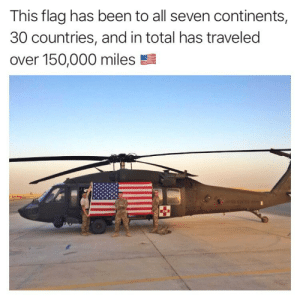 An Infantry Officer stationed at Fort Bliss, TX sent this to us - @americanflagjourney. Keep up the good work and @tagtheflag 🇺🇸: This flag has been to all seven continents  30 countries, and in total has traveled  over 150,000 miles An Infantry Officer stationed at Fort Bliss, TX sent this to us - @americanflagjourney. Keep up the good work and @tagtheflag 🇺🇸