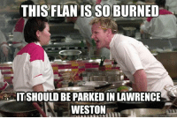 Lawrence: THIS FLANIS SO BURNED  TISHOULD BE PARKEDIN LAWRENCE  WESTON  quick meme com