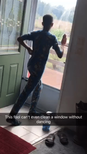CoCo, Dancing, and Future: This fool can't even clean a window without  dancing yemme:  blahblahyouboreme: callme-coco:   localstarboy:  I swear my Mom dropped him on his head when he was young   if this isn't my future child 😂   Grandma voice- You leave that baby lone  Sweet.