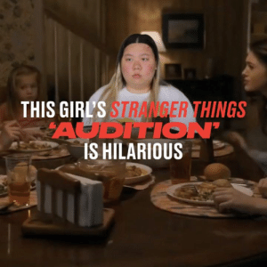 This girl has put together an audition tape to appear on Stranger Things and it's absolutely hilarious! Give her the part now! 👏😂  Netflix x Stranger Things: THIS GIRL'S STRANGER THINGS  AODITION'  IS HILARIOUS This girl has put together an audition tape to appear on Stranger Things and it's absolutely hilarious! Give her the part now! 👏😂  Netflix x Stranger Things