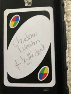 This godly uno card: This godly uno card