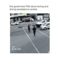 Follow me (@hangars) for more! 💕: this government PSA about texting and  driving escalated so quickly  NOW  THIS  CH3  35/0172816 Follow me (@hangars) for more! 💕