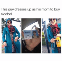 """It's like really really really shitty """"Ocean's 11"""": This guy dresses up as his mom to buy  alcohol  MD  010 It's like really really really shitty """"Ocean's 11"""""""