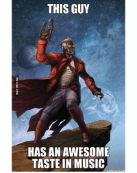 9gag, Destiny, and Family: THIS GUY  HAS AN AWESOME  TASTE IN MUSIC  MEME FUL COM Thanks, mom! In your group of friends or family, who's got the best taste in music? 🎶 Salute those that stand up for others with May's GUARDIANS Loot Crate featuring Guardians of the Galaxy Vol. 2, Star Wars, The Goonies, and Destiny! (Link in Bio) (Via 9gag.com)