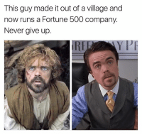 (@narvi.schwartz) Peter Dinklage is the fucking man & I can't wait to crack a cold one with myself (I have no friends) and watch Tyrion Lannister put in WORK: This guy made it out of a village and  now runs a Fortune 500 company.  Never give up.  PI (@narvi.schwartz) Peter Dinklage is the fucking man & I can't wait to crack a cold one with myself (I have no friends) and watch Tyrion Lannister put in WORK