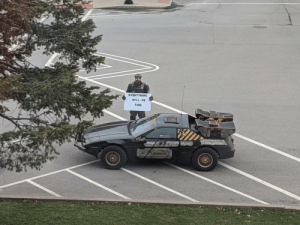 This guy showed up today outside of my office.: This guy showed up today outside of my office.