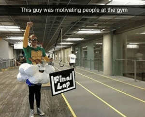 https://t.co/4de2PDr8sr: This guy was motivating people at the gym  Final  Lap https://t.co/4de2PDr8sr