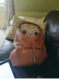 Faces-In-Things, Sofa, and Shock: This handbag was in a state of shock after being left on the sofa https://t.co/bmtj6hUHdL