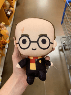 This Harry Potter plushie with a receding hairline: This Harry Potter plushie with a receding hairline