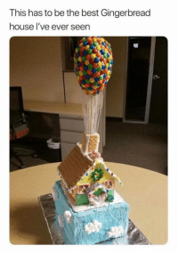 Memes, Best, and House: This has to be the best Gingerbread  house l've ever seen 😋