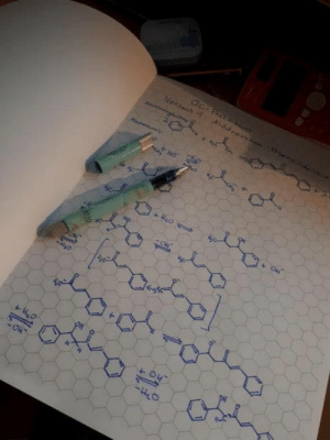 Chemistry, Paper, and Organic: This hexagonal graph paper for organic chemistry