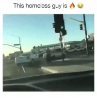 Funny, Homeless, and Got: This homeless guy is The bro got moves.. funniest15 viralcypher funniest15seconds