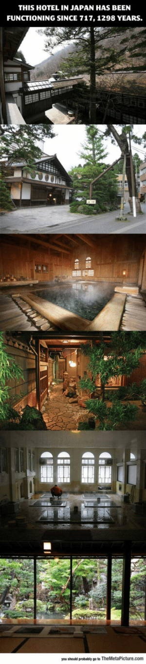lolzandtrollz:  An Ancient Hotel That Has Been Functioning For 1298 Years: THIS HOTEL IN JAPAN HAS BEEN  FUNCTIONING SINCE 717, 1298 YEARS.  you should probably go to TheMetaPicture.com lolzandtrollz:  An Ancient Hotel That Has Been Functioning For 1298 Years