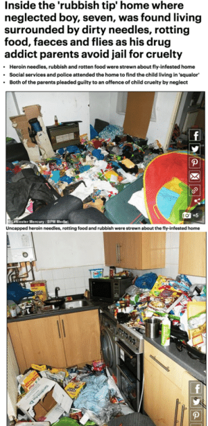This House where a 7 year old boy was discovered to be living, amongst the junk were used heroine needles: This House where a 7 year old boy was discovered to be living, amongst the junk were used heroine needles