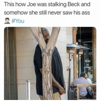Ass, Saw, and Stalking: This how Joe was stalking Beck and  somehow she still never saw his ass  I'm not saying she deserved what she got but maybe don't masterbate in front of the window of your ground level NYC apartment? 🤷🏽‍♀️ shedeservedwhatshegot you (@martinisandmayhem)