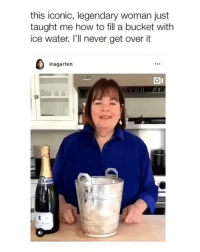 Twitter, Grindr, and How To: this iconic, legendary woman just  taught me how to fill a bucket with  ice water. l'll never get overit  inagarten ICONIC 🍾 (twitter-halrhorer)