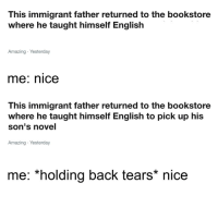 """Apple, Fall, and Tree: This immigrant father returned to the bookstore  where he taught himself English  Amazing Yesterday  me: nice  This immigrant father returned to the bookstore  where he taught himself English to pick up his  son's novel  Amazing Yesterday  me: *holding back tears* nice <p>The apple doesn't fall far from the tree via /r/wholesomememes <a href=""""https://ift.tt/2HEHE5G"""">https://ift.tt/2HEHE5G</a></p>"""