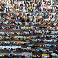 This incredible image shows Muslims at prayer at a mosque in India. 🌙 Muslims around the world today are celebrating the holy holiday of Eid al-Adha, also known as the feast of sacrifice. It follows the Hajj, the annual Islamic pilgrimage to Mecca, which began on Sunday and commemorates the story of the Muslim Prophet Abraham's test of faith. The day is usually marked with the sacrifice of an animal – usually a sheep, goat or cow. islam eidaladha bbcnews: This incredible image shows Muslims at prayer at a mosque in India. 🌙 Muslims around the world today are celebrating the holy holiday of Eid al-Adha, also known as the feast of sacrifice. It follows the Hajj, the annual Islamic pilgrimage to Mecca, which began on Sunday and commemorates the story of the Muslim Prophet Abraham's test of faith. The day is usually marked with the sacrifice of an animal – usually a sheep, goat or cow. islam eidaladha bbcnews