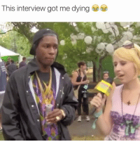 Lmao ASAP was straight weirded out 😂😂: This interview got me dying Lmao ASAP was straight weirded out 😂😂