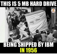 Indianpeoplefacebook, Ibm, and Hard Drive: THIS IS 5MB HARD DRIVE  BEING SHIPPED BY IBM  IN 1956 Surprising.. :O