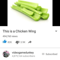 videogamedunkey: This is a Chicken Wing  494,760 views  82K 3.9K  videogamedunkey  4,879,164 subscribers  Subscribed