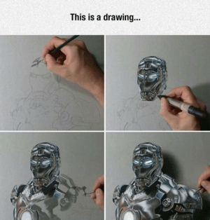 epicjohndoe:  Iron-Man Ultra Realistic Drawing: This is a drawing... epicjohndoe:  Iron-Man Ultra Realistic Drawing