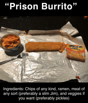 This is a great late night snack. You just got to put all the ingredients in a chip bag, mix them up, pour some hot water in the bag, roll the bag up tightly to make the shape of a brick or burrito and for the bag to insulate, then wait five minutes for it to cook. by BABYEATER2000 MORE MEMES: This is a great late night snack. You just got to put all the ingredients in a chip bag, mix them up, pour some hot water in the bag, roll the bag up tightly to make the shape of a brick or burrito and for the bag to insulate, then wait five minutes for it to cook. by BABYEATER2000 MORE MEMES