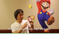 This is a new Super Mario: Super Mario Run Super Mario Run is a unique Mario experience for iPhone and iPad that you can play with one hand, as Mr. Miyamoto demonstrates here: