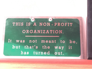 Found in my grandpa's office: THIS IS A NON PROFIT  ORGANIZATION.  It  to be,  but that's the way it  has turne d out.  not meant  was Found in my grandpa's office