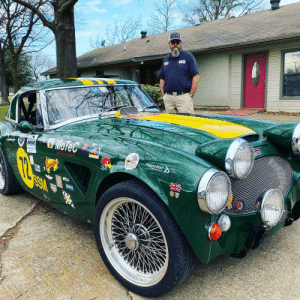 This is a one of a kind turbo Austin Healey.: This is a one of a kind turbo Austin Healey.