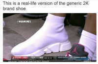Life, Nba, and Summer: This is a real-life version of the generic 2K  brand shoe  LIVE  @NBAMEMES  POR-651 SA-65 4th 9:13 131  MGM RESORTS NBA SUMMER LEAGUE This is it...