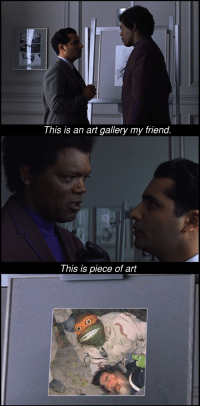 "Memes, Old, and Art: This is an art gallery my friend  This is piece of art <p>Easy to exploit and great way of recycling old memes via /r/MemeEconomy <a href=""https://ift.tt/2um5Txk"">https://ift.tt/2um5Txk</a></p>"