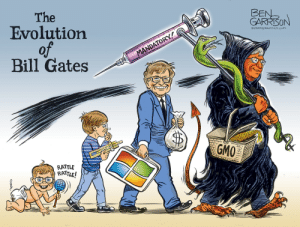 This is Ben's 6TH cartoon about how Bill Gates is supposedly using the coronavirus to install mandatory vaccines to control the masses. He just won't. friggin. stop.: This is Ben's 6TH cartoon about how Bill Gates is supposedly using the coronavirus to install mandatory vaccines to control the masses. He just won't. friggin. stop.