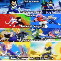 Never Forget #2: This is called  Fb.com/ProudSayian  A Non-Canon GCrap  This is  The real Vegeta  Fb.com/ProudSayian  Not giving a about  damn Gb.com/Proud Sayian  How strong  his opponent is Never Forget #2