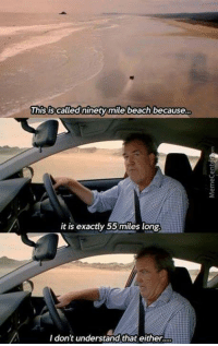Wait... what?: This is called ninety mile beach because  It is exactly 55 miles long.  I don't understand that either. Wait... what?