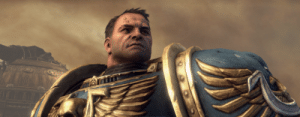 This is Captain Titus of the Ultramarines. When Captain Titus of the Ultramarines is falsely accused of Heresy he doesn't order the fleet siezed and all outside his Chapter declared hostile. He lays down his weapons and is unafraid to defend himself. Be more like Captain Titus of the Ultramarines.: This is Captain Titus of the Ultramarines. When Captain Titus of the Ultramarines is falsely accused of Heresy he doesn't order the fleet siezed and all outside his Chapter declared hostile. He lays down his weapons and is unafraid to defend himself. Be more like Captain Titus of the Ultramarines.