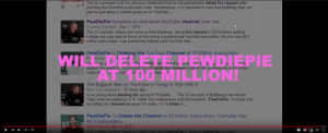 """College, New York, and youtube.com: This is consistent with his previous statement that he will permanently delete his channel after  reaching the 50-million-subsc riber mark. Nonetheless, it is important to note that Kjellberg does not  plan to quit being a content producer on YouTube...  PewDiePie threatens to shut down YouTube channel over row  Evening Standard-Dec 7, 2016  The 27-year-old, whose real name is Felix Kjellberg, set up his channel in 2010 before quitting  college one year later to focus on becoming a professional YouTube pers onality. He now has 49.7  million subscribers, was named the highest paid YouTube star  PewDiePie Is Deleting His YouTube Channel At 50 Million Subscribers  Pe strian  sely p  against the platform, saying that he will delete his channel when it hits a milestone of 50 million  subscrib  WIL  AT 100 MILLION!  EWDIEPIE  e z 2 5  aT D iaPie th iee kn n as  aliv  stec  ww  smos  e  The Biggest Star on YouTube Is Going to War With It  New York Magazine-15 hours ago  Is he joking about deleting his account? Probably. ...The 20 seconds of Kjellberg's ten-minute  video were excerpted by U.K. outlet The Independent with the headline: """"PewDiePie: YouTube may  be 'killing' my channel because I'm white, so l'll delete it...  PewDiePie To Delete His Channel at 50 Million Subscribers; Currently Has  49.5 Subscribers  MStarsNews-Dec 4, 2016  NE  CC  1:41/1:43  Just a mere public ity stunt or a legit c laim but PewDiePie is about to delete his account Will He Do It Though?"""