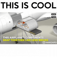 "Follow me (@hangars) for more! 💞 - Comment ""PLANE"" 1 letter at a time without getting interrupted 😱: THIS IS COOL  NOW  THIS  THIS AIRPLANE'S COMPONENTS  SNAP TOGETHER LIKE LEGO BRICKS  OHANGARS Follow me (@hangars) for more! 💞 - Comment ""PLANE"" 1 letter at a time without getting interrupted 😱"
