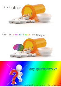 America, Drugs, and Brain: this is drugs  this is you re brain on drugs  any question's ??  stec  partnership for a drug free america <p>any question's ??</p>