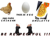 "Class, Mø, and Make: THIS IS E G G  egg make  CHIK E KN  egg ma  OMELETTE <p>Submission by <a class=""tumblelog"" href=""https://tmblr.co/mphsbZ2kVcZQgEKoZuN7RnA"">@buckeatsbees</a></p>"